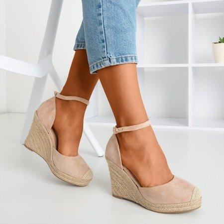 Beige espadrilles on the wedge Bonita - Footwear 1