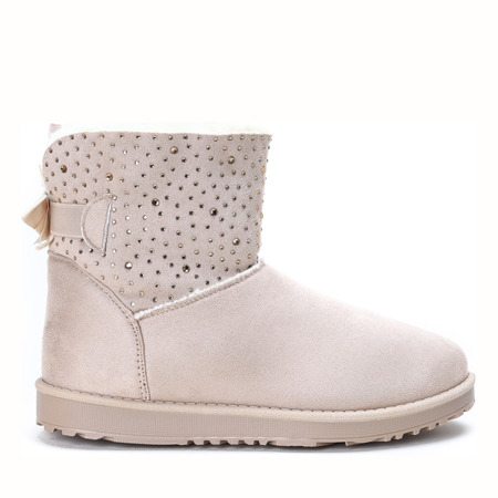 Beige, insulated snow boots Kati - Footwear