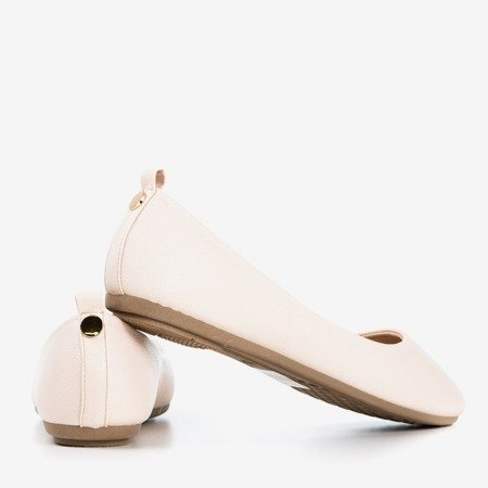 Beige - pink women's ballerina eco - leather Nastis - Footwear 1