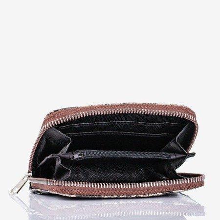 Beige small wallet a'la snakeskin - Wallet