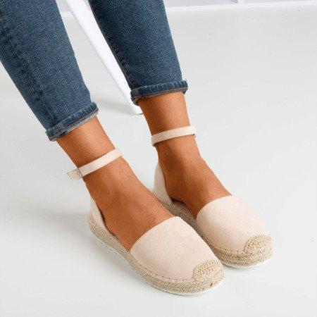 Beige women's espadrilles on the Citiva platform - Footwear 1