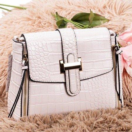 Beige women's shoulder bag - Handbags 1