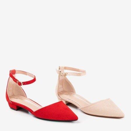 Beige women's ballerinas with flat heels Arinida - Shoes