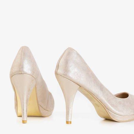 Beige women's pumps on a high heel Mawel - Shoes