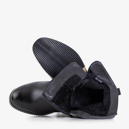 Black Fonde women's ankle boots with buckle - Footwear