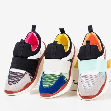 Black Mendora sports shoes with colored inserts - Footwear