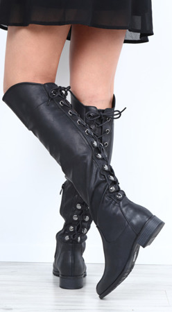 Black boots from eco-leather Narra - Footwear