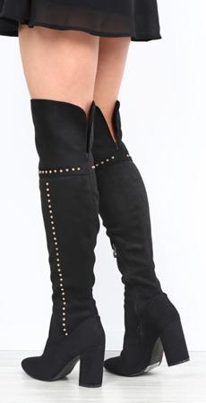 Black boots on stalk Shannon - Footwear