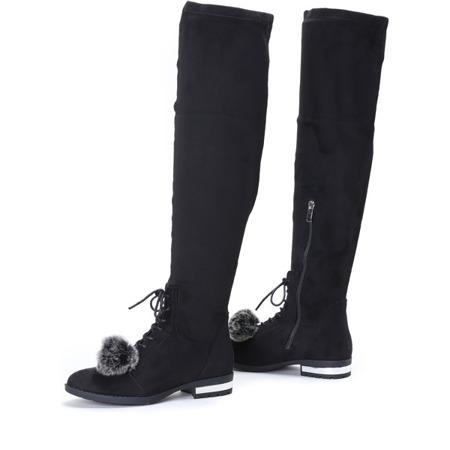 Black boots with tassel Mamika - Footwear