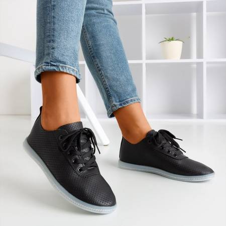 Black openwork Jasenia sneakers - Shoes 1