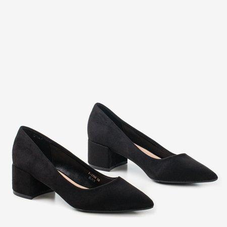 Black pumps on a low post Amee - Footwear 1