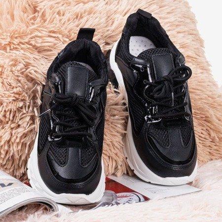 Black sport sneakers on the Igalea platform - Footwear 1