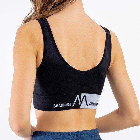Black sports bra with inscriptions - Underwear