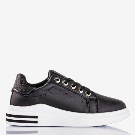 Black sports sneakers with glitter inserts Solesca - Footwear