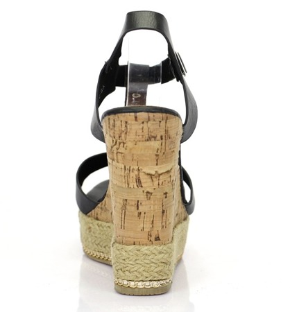 Black wedge sandals - Footwear 1