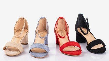 Black women's sandals on a low heel First Love - Footwear 1