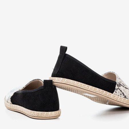 Black women's espadrilles a'la snake skin Fulton - Footwear 1