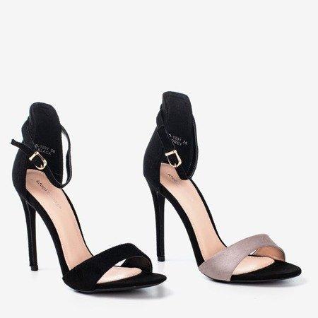 Black women's sandals on a high heel Gold Rush - Footwear 1