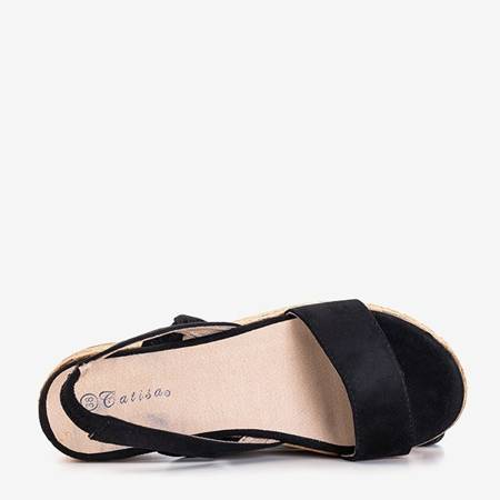 Black women's sandals on the Rosienna platform - Footwear