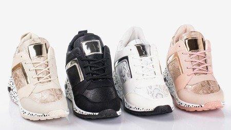 Black women's wedge sneakers Acanta - Footwear 1