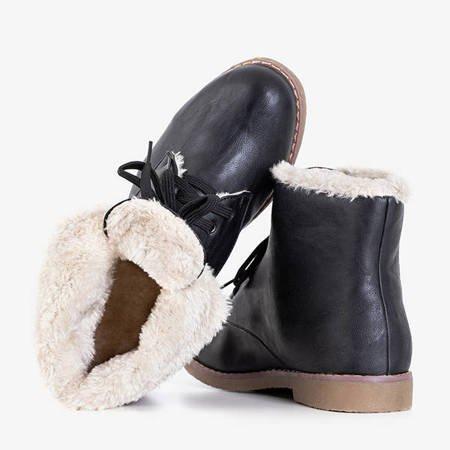 Black women's workers insulated with fur Vegiea - Footwear