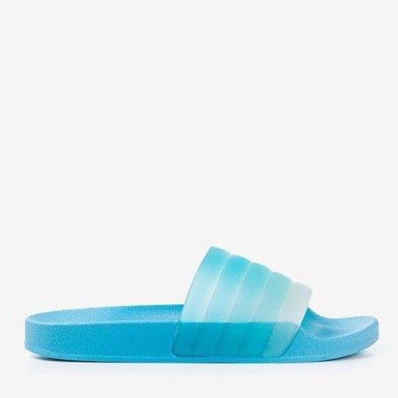 Blue Nalina Rubber Slippers - Footwear
