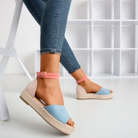 Blue women's sandals a'la espadrilles Truly Yours - Shoes 1
