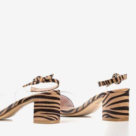 Brown pumps on a zebra a'la zebra Evora - Footwear 1