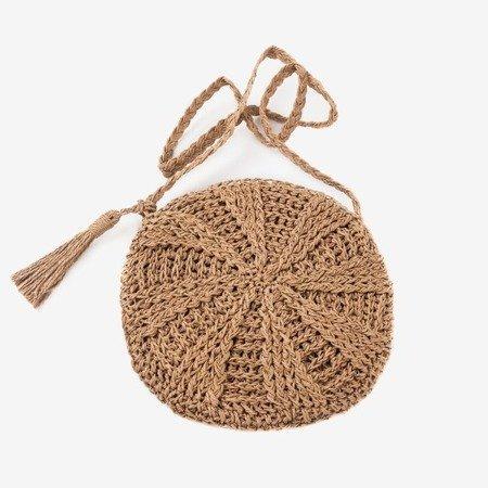 Brown straw women's handbag over the shoulder - Handbags 1