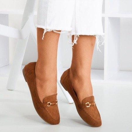 Brown women's loafers Seraphine - Footwear 1