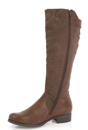 Brown women's boots with a Buenqa buckle - Footwear