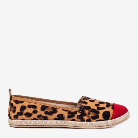 Brown women's espadrilles a'la leopard Fulimpa Fulton - Footwear