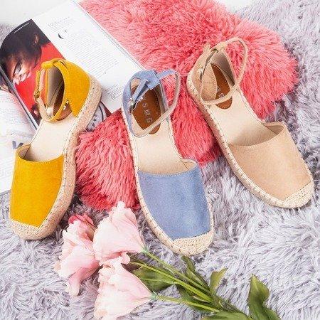 Brown women's espadrilles on the Marcita platform - Footwear