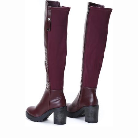 Burgundy boots on a Majana post - Footwear