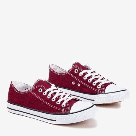 Burgundy men's sneakers Lonis - Footwear 1