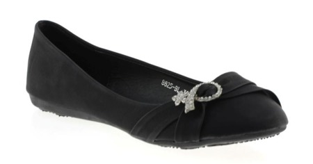 Classic black ballerinas with Stripoq decoration - Footwear