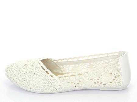 Classic white ballerinas Adorina - Shoes