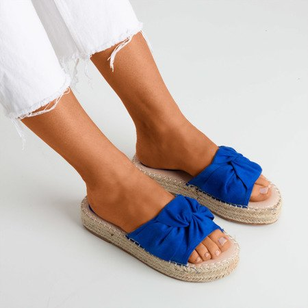 Cobalt women's slippers on the Baby Bow platform - Footwear 1