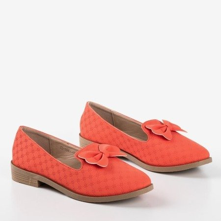 Coral loafers with Flavisa bow - Footwear 1