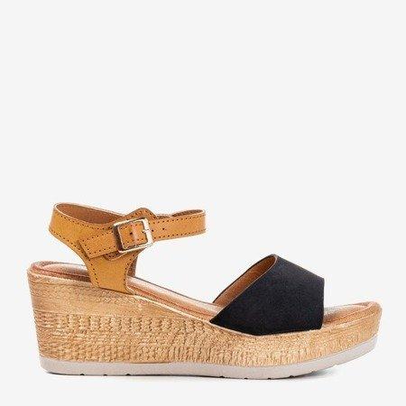 Erios black wedge sandals - Footwear