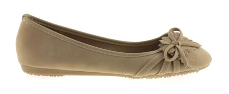 Feggs khaki ballerinas with decorated uppers - Footwear
