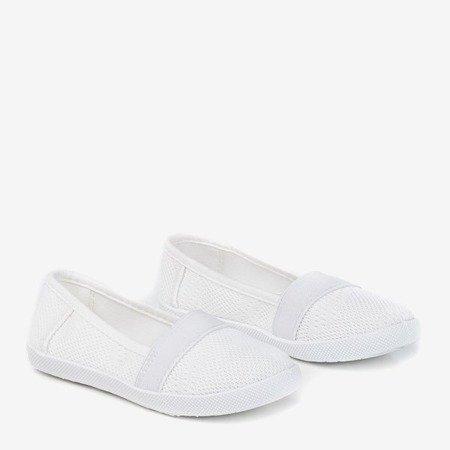 Girls' white openwork slip - on Nugas- Footwear