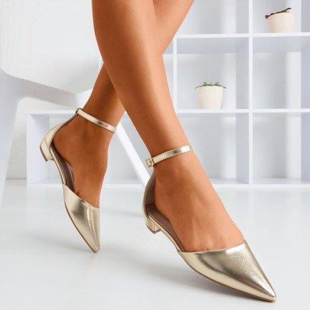 Gold women's flat heels Arinida - Footwear 1