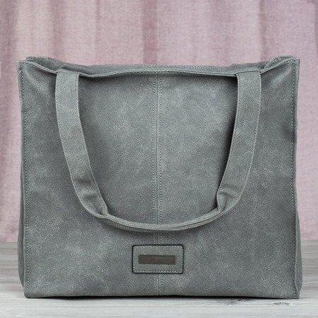 Gray large women's shoulder bag - Handbags 1