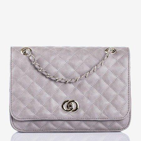 Gray quilted shoulder bag - Handbags 1