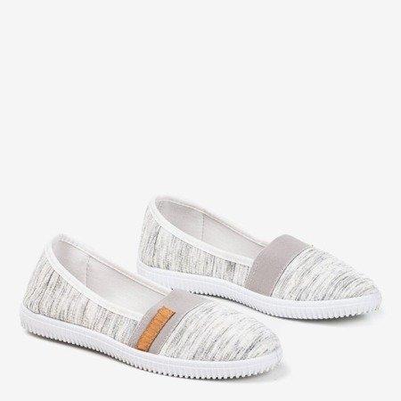 Gray slip - on sneakers with straps Arimida - Footwear