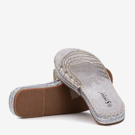 Gray transparent slippers with cubic zirconias Noumeia - Footwear