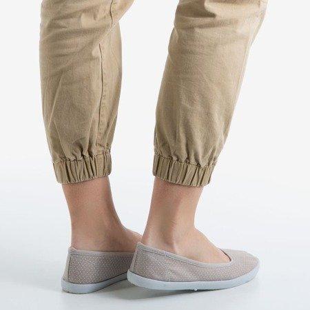 Gray women's ballet shoes with Orinara dots - Footwear 1