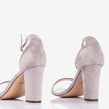 Gray women's sandals on the post Sweet Honey - Footwear 1