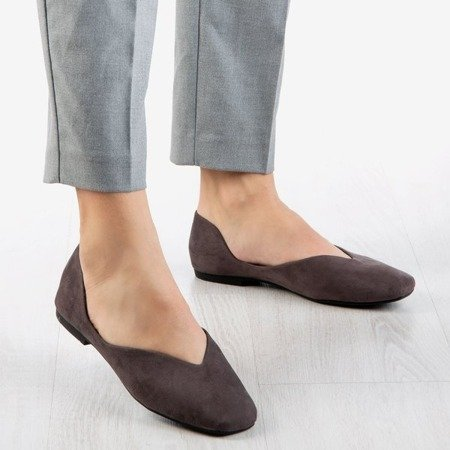 Gray women's ballerinas from eco-suede Molli - Footwear 1